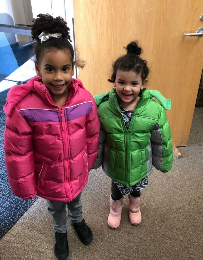girls in coats