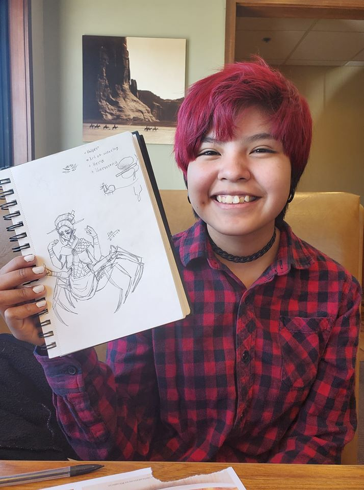 hope showing her drawing