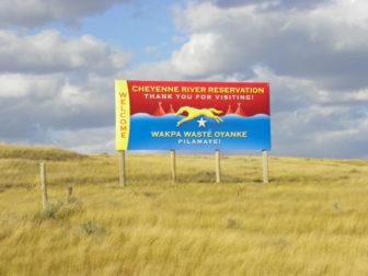cheyenne river greeting sign