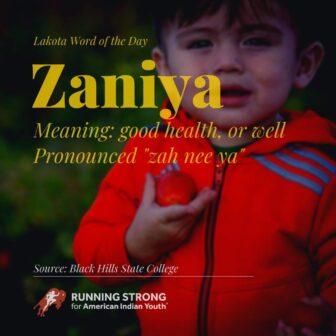 Zaniya (good health, or well)